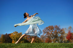 Ballerina Dancing Stock Photography