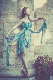 Ballerina dancing on the city street Royalty Free Stock Photography