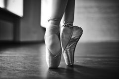 Ballerina dancing Stock Photography