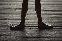 Ballerina dancing feet Stock Photos