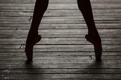 Ballerina dancing feet Stock Image