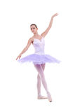 Ballerina is dancing gracefully Royalty Free Stock Photos