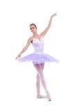 Ballerina is dancing gracefully royalty free stock photos