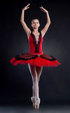 Ballerina is dancing gracefully Royalty Free Stock Images