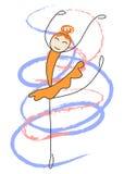 The ballerina is dancing Stock Photo
