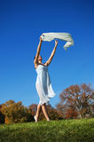 Ballerina dancing outside Stock Images