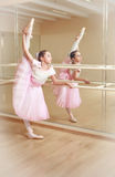 Ballerina at dancing school Stock Images