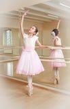 Ballerina at dancing school Stock Images