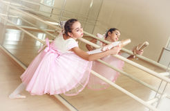 Ballerina at dancing school Royalty Free Stock Photo