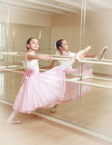 Ballerina at dancing school Royalty Free Stock Image