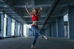 Ballerina dancing. Street performance. royalty free stock photography