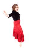 Ballerina dancing tango Royalty Free Stock Image