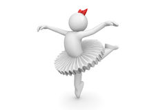 Ballerina dancing in tutu Royalty Free Stock Image