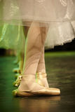 Ballerina dancing. Young ballerina dancing close up on her shoes Stock Images