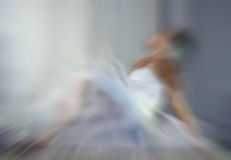 Ballerina defocused.  motion blur effect Royalty Free Stock Image