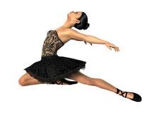 Ballerina der Wiedergabe-3D auf Weiß Lizenzfreies Stockfoto