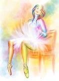 Ballerina di seduta Fotografie Stock