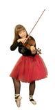 Ballerina die de viool spelen Stock Afbeelding
