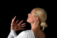Ballerina die dramatism uitdrukt Stock Afbeelding