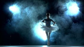 Ballerina, die ein Training im Klassenzimmer tut stock video
