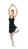Ballerina, die einen Tanz durchführt stockfotos