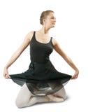 Ballerina, die einen Tanz durchführt Stockfoto
