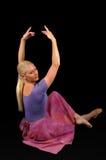 Ballerina die Handen opheft Stock Foto