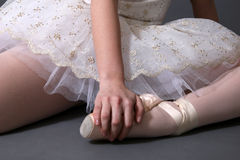 Ballerina die in Kleur rust royalty-vrije stock afbeelding