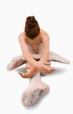 Ballerina die rek doet Stock Foto's
