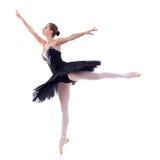 Ballerina, die schwarzen tu tu trägt Stockfotos