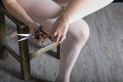 Ballerina die voorbereiden Stock Foto