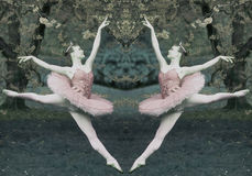 Ballerina Diptych Royalty Free Stock Photos