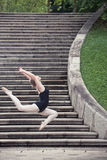 Ballerina doing ballet outdoor Royalty Free Stock Photos