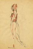 Ballerina, drawing 11 Stock Photography