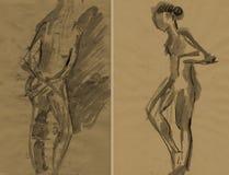 Ballerina, drawing 13 Royalty Free Stock Photography