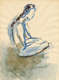 Ballerina, drawing 15 Stock Image
