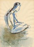 Ballerina, drawing 15 Stock Image