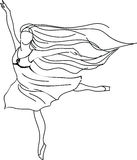 Ballerina drawing Stock Image