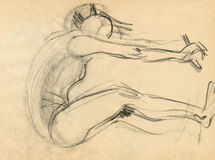 Ballerina, drawing 8 Stock Images