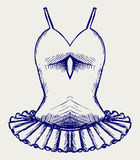 Ballerina dress. Doodle style Royalty Free Stock Images