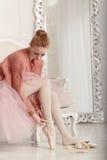 Ballerina dress pointes Stock Photo