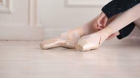 Ballerina dress pointes stock video