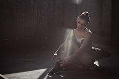 Ballerina dresses pointe shoes stock images