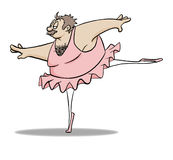 Ballerina Dude Royalty Free Stock Image