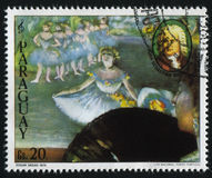 Ballerina ed il ritratto di Johann Sebastian Bach da Edgar Deg Fotografia Stock