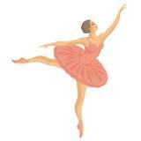 Ballerina in een roze tutu stock illustratie