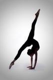 Ballerina in een studiofoto Stock Afbeelding