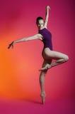 Ballerina in een studiofoto Stock Fotografie