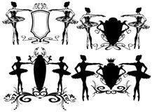 Ballerina emblems vector Stock Images