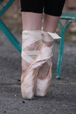 Ballerina Feet. Ballerina in formation on toes royalty free stock images